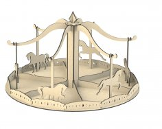 Laser Cut Carousel Template Free Vector