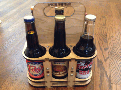 Laser Cut Six Pack Holder DXF File