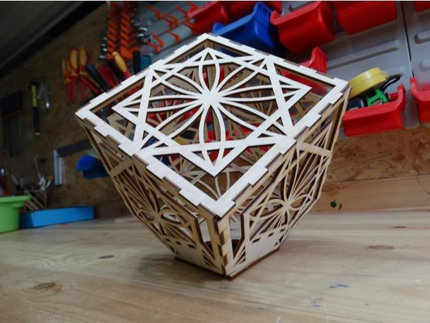 Cube Lamp DXF File