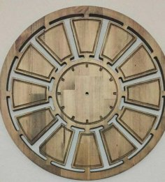 Laser Cut Wooden Round Clock Template Free Vector