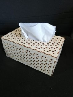 Laser Cut Tissue Box Template DXF File