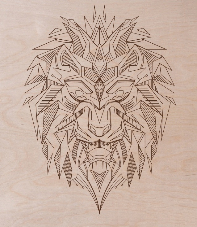 Laser Cut Engraving Lion Template Free Vector
