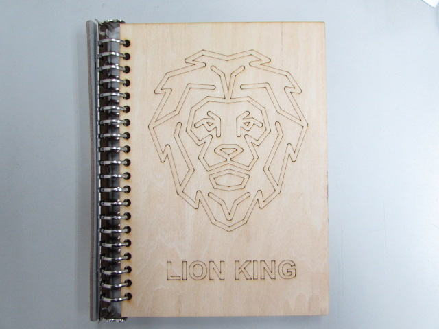 Laser Cut Wood Notebook Cover DXF File