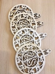 Laser Cut Pendant Plywood Toys For New Year Free Vector