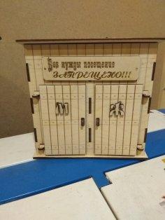 Laser Cut Toilet Shape Piggy Bank Template Free Vector