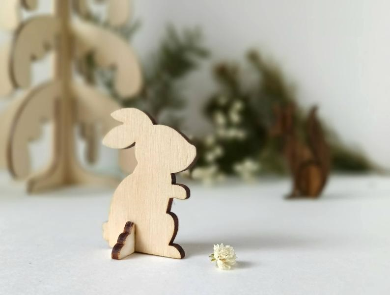 Bunny Wooden Animal CNC Laser Cut Template Free Vector