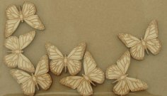 Laser Cut Engraved Wooden Butterfly Shapes Free Vector