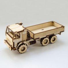 Laser Cut Wooden Dump Truck Free Vector