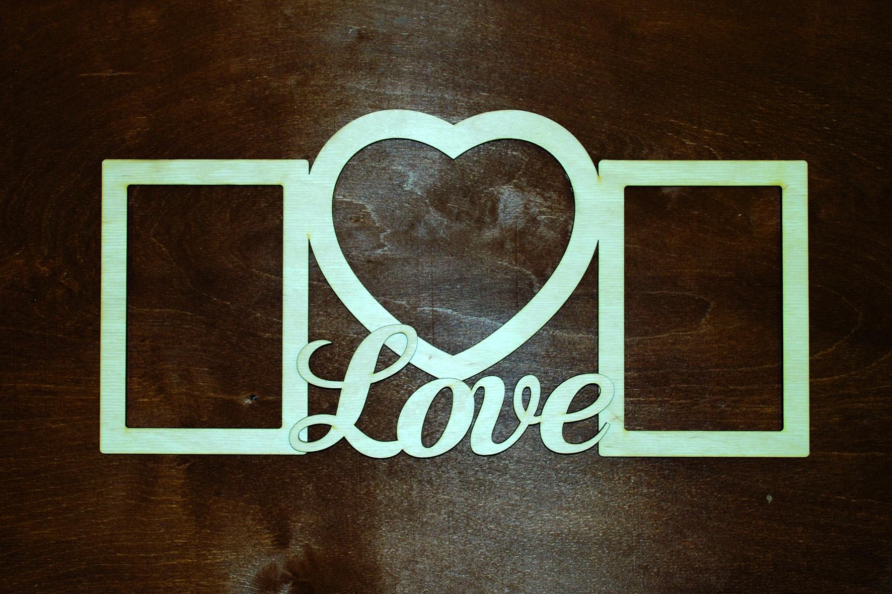 Laser Cut Love Heart Photo Frame Free Vector