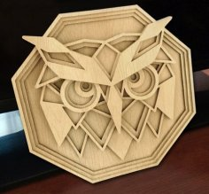 Laser Cut Layered Owl Wall Decor Free Vector
