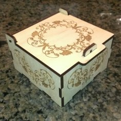 Laser Cut Engraved Jewelry Box Free Vector