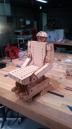 Laser Cut Armchair Robot Free Vector