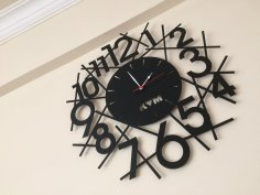 Wall Clock Design dxf file