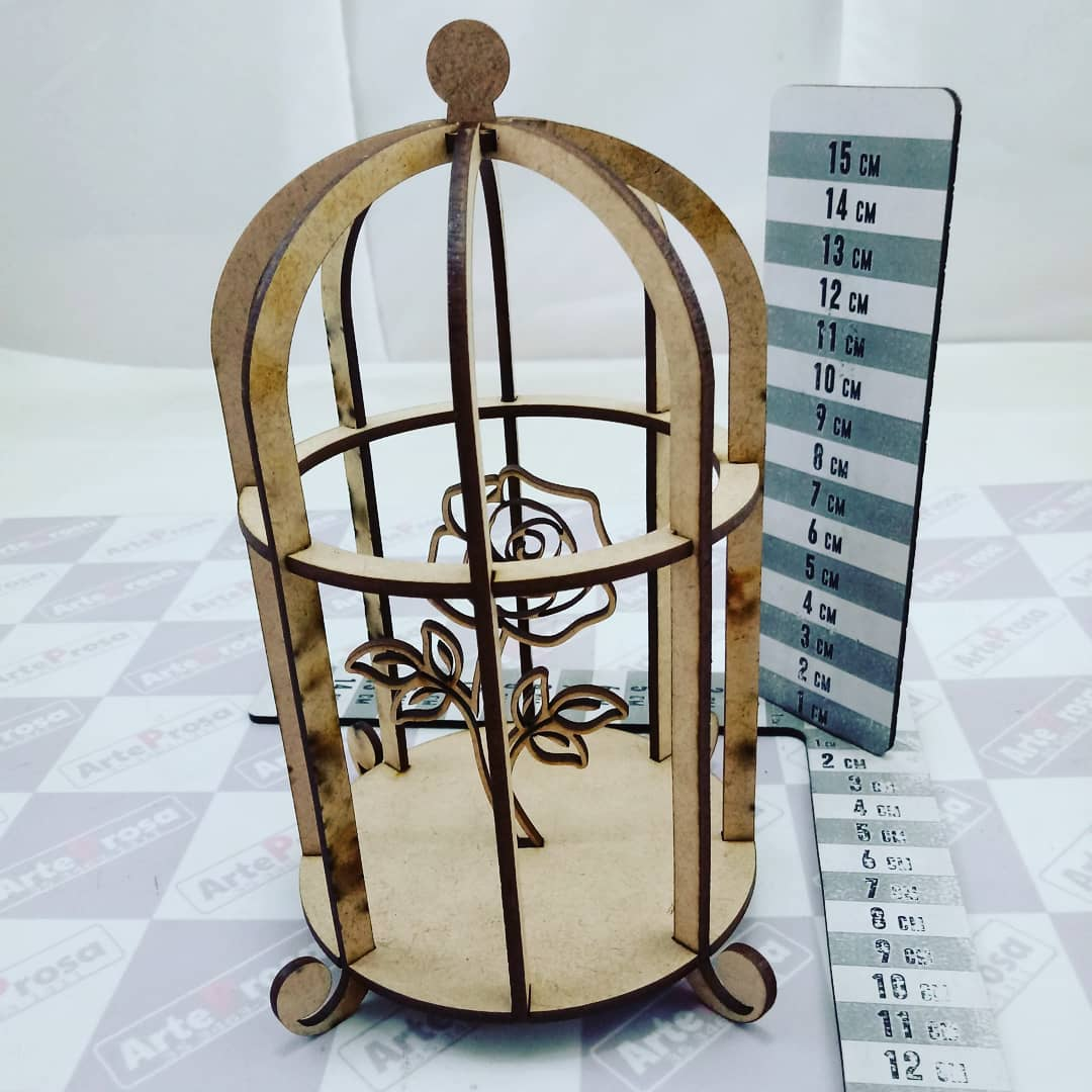 Laser Cut Bird Cage Decoration Cage With Flower Free Vector