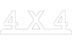4X4 dxf file