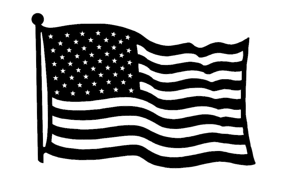 Us Flag dxf File