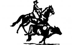Horse Cowboy Cow dxf File