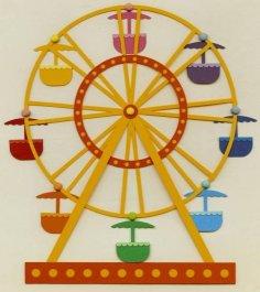 Ferris wheel 3D Puzzle dxf File