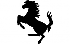 Horse Galloping Silhouette dxf File