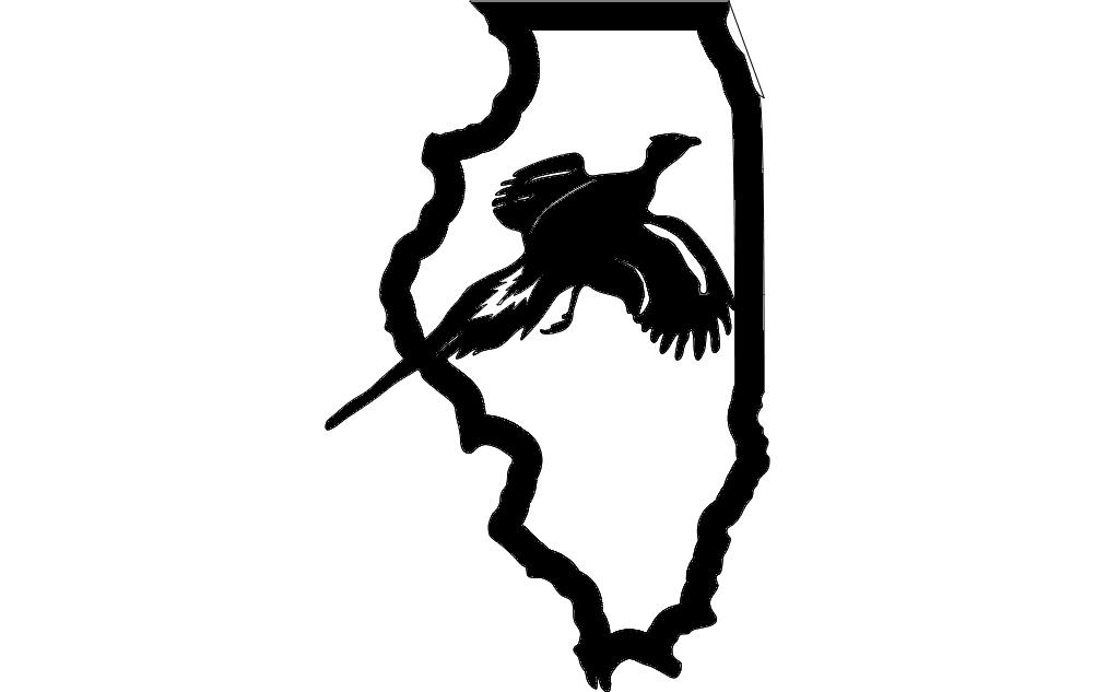 Illinois Pheasant dxf File