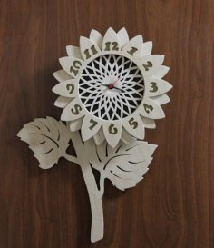 Flower Design Decorative Wall Clock