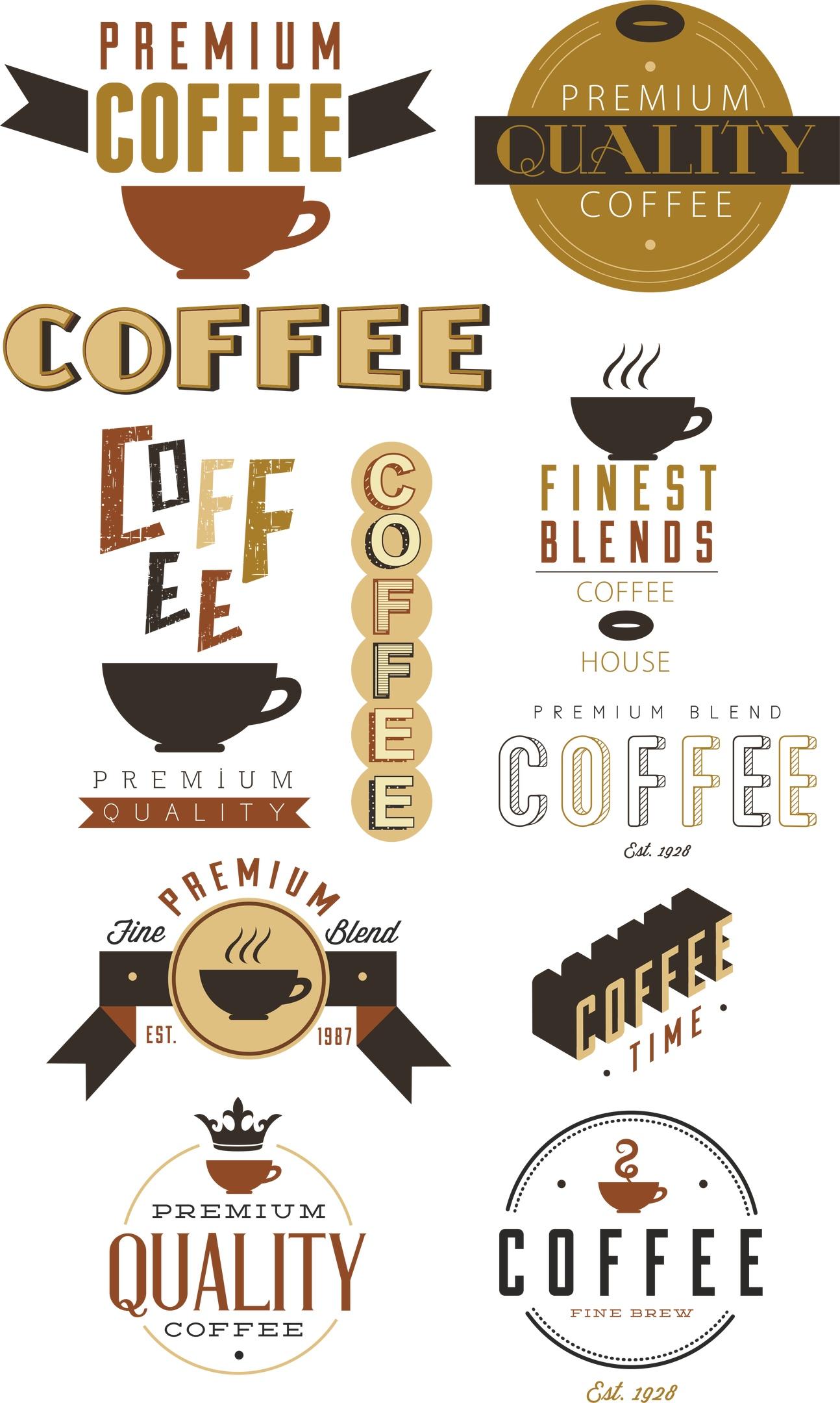 Coffee Vector Set Free Vector