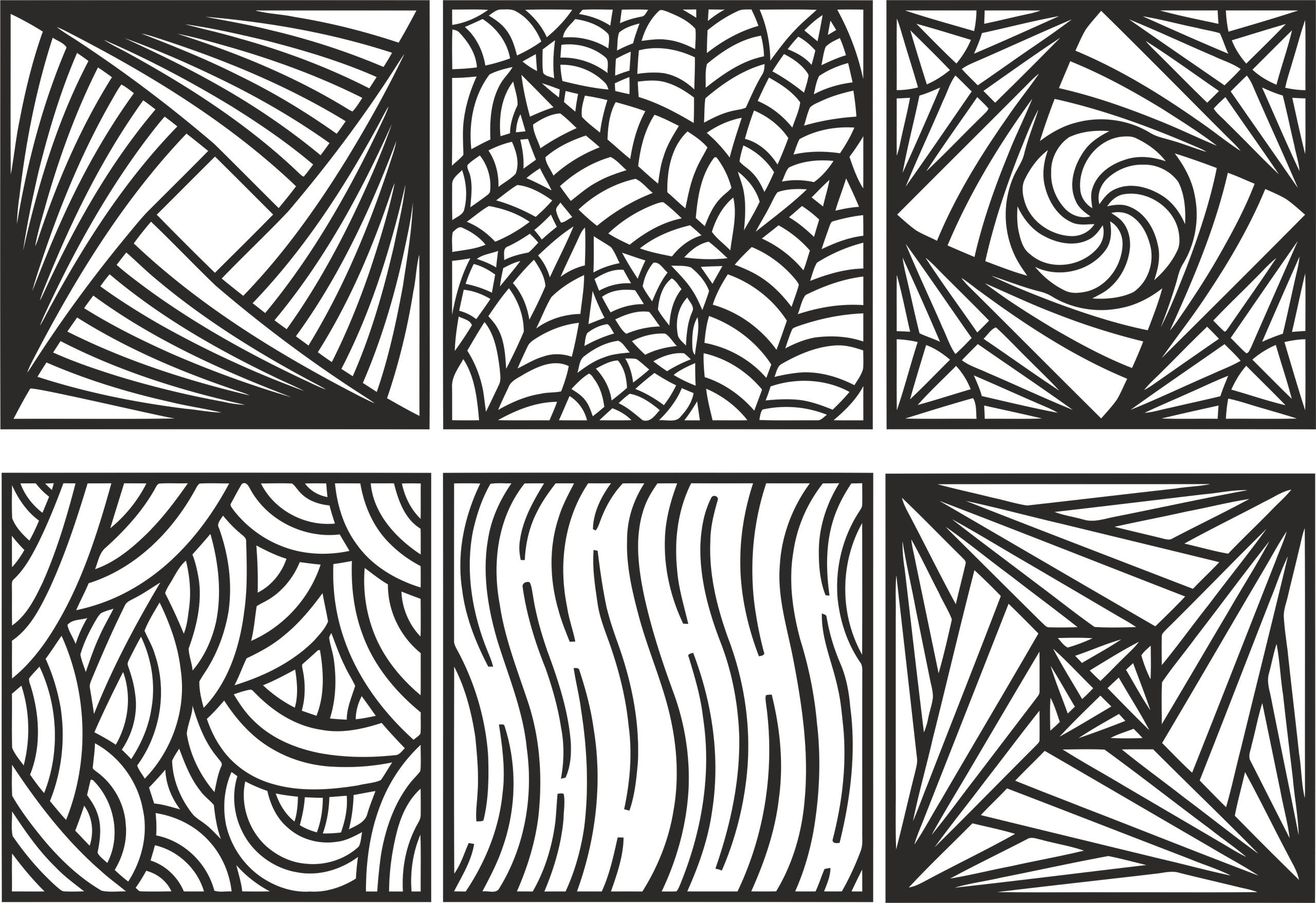 Ornament Pattern Set Free Vector