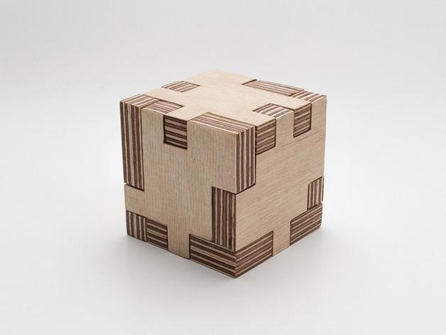 Puzzle Cube Laser Cut DXF File