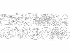 Skorpion 3D Puzzle dxf File