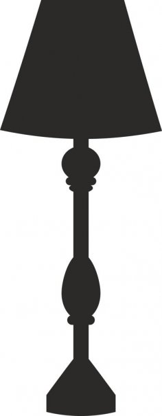 Lamp Silhouette Vector dxf File
