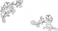 Vines and Flower Vector Free Vector
