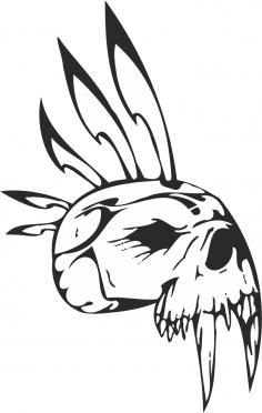 Epic Tribal Skull Vector Free Vector