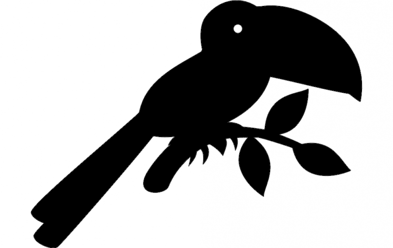 Toucan Silhouette vector dxf File