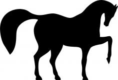 Horse Dancing Vector Free Vector