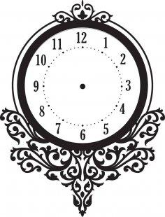 Floral Clock Vector Art jpg Image