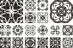 Floral Ornament Set Free Vector