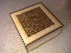 Laser Cut Islamic Box Free Vector