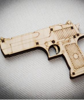 Pistol 3D Laser Cut PDF File