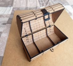 Wooden Box, Chest Trunk CNC Laser Cut Plywood PDF File