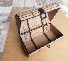 Wooden Box, Chest Trunk CNC Laser Cut Plywood PDF File