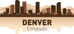 Denver Skyline Free Vector