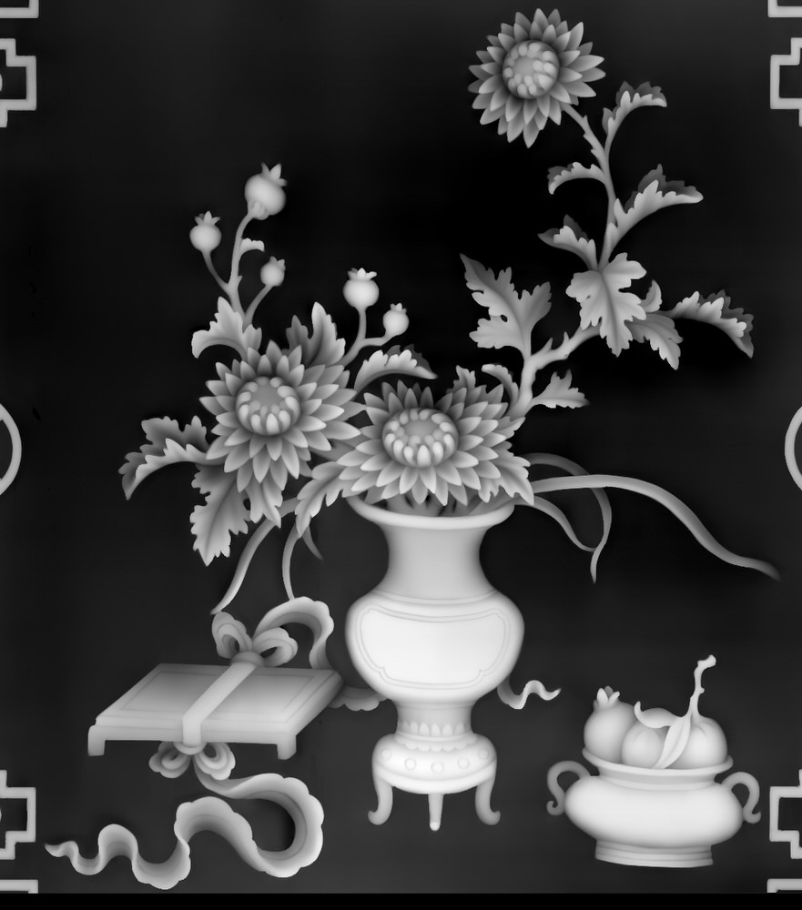 3D Grayscale Image 44 BMP File