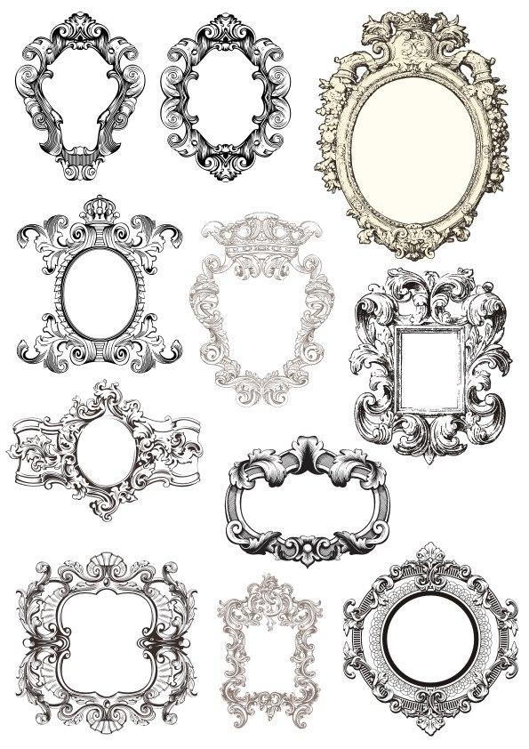 Baroque Frames Free Vector