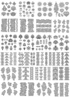 Fancy Decor Elements Free Vector
