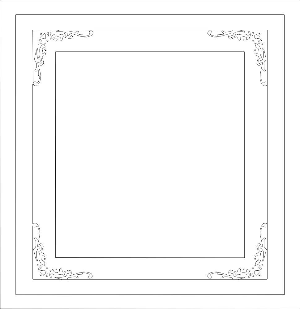 Decorative Frame DXF File