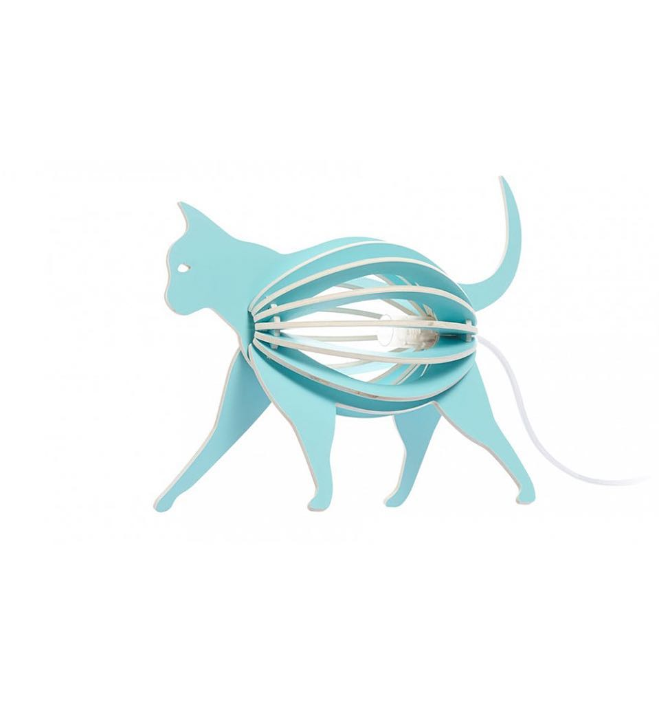 Cat Lamp Laser Cut Free Vector