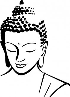 Budhha Face DXF File