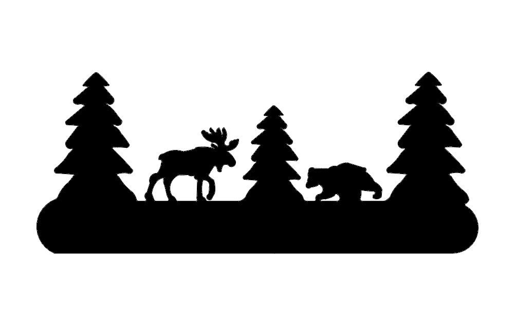 Moose And Bear dxf File