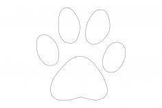 Dog Paw dxf File
