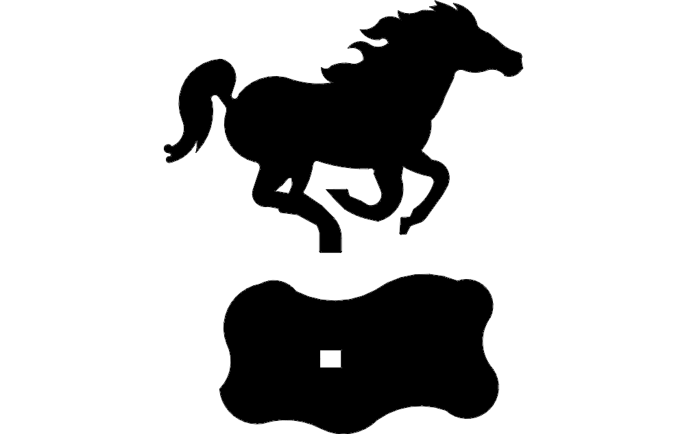 Horse Mustang dxf File